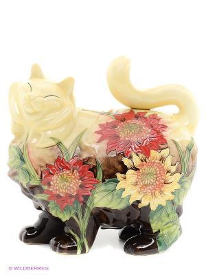 Копилка Кошка (Pavone) Pavone. Цвет: зеленый, желтый, коричневый, красный