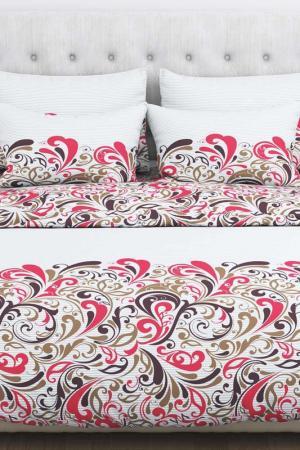 Постельное белье, евро Amore Mio. Цвет: белый, красный, коричневый