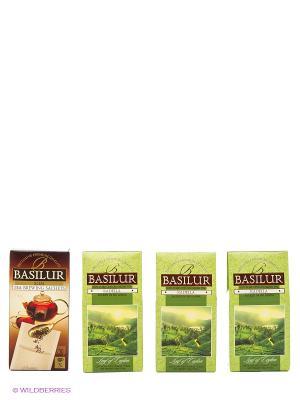 Набор чая Лист Цейлона. Раделла/Radella Green Basilur. Цвет: зеленый