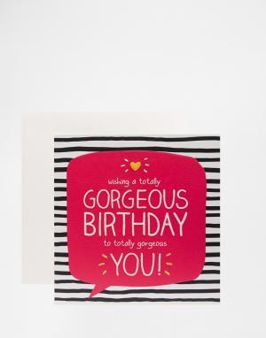 Happy Jackson Поздравительная открытка на день рождения Totally Gorgeo. Цвет: мульти