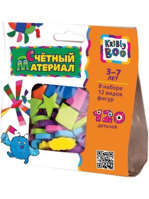 Счётный материал, 120 деталей Kribly Boo. Цвет: зеленый, голубой, оранжевый, розовый, желтый
