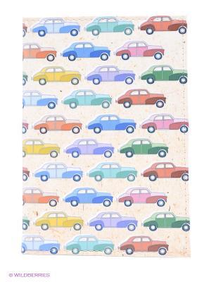 Обложка для автодокументов Цветные машинки Mitya Veselkov. Цвет: кремовый, синий, зеленый
