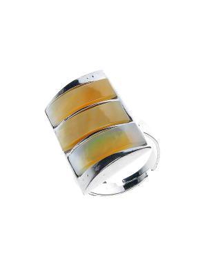 Кольцо Migura. Цвет: серебристый, бежевый