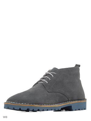 Ботинки renne. Цвет: серый
