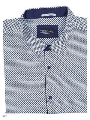 Рубашка AMATO. Цвет: синий, белый