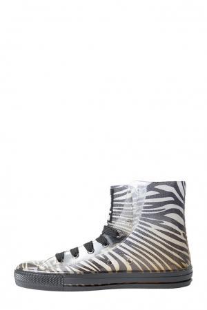 Кеды  zebra-36-белый, черный Feith