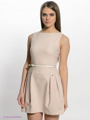 Платье FRACOMINA. Цвет: кремовый