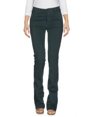 Джинсовые брюки 0/ZERO CONSTRUCTION. Цвет: темно-зеленый