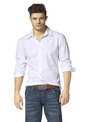 Рубашка JOHN DEVIN. Цвет: белый, черный