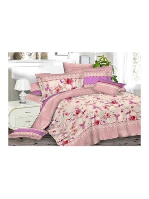 Комплект постельного белья 1,5сп. BegAl. Цвет: розовый