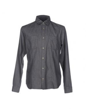 Джинсовая рубашка JOHN VARVATOS ★ U.S.A.. Цвет: свинцово-серый