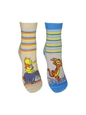 Носки 2 пары Master Socks. Цвет: светло-серый, бежевый