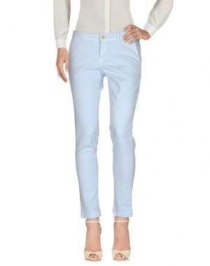 Повседневные брюки RE-HASH. Цвет: небесно-голубой
