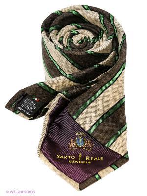 Галстук Sarto Reale. Цвет: коричневый, бежевый, зеленый