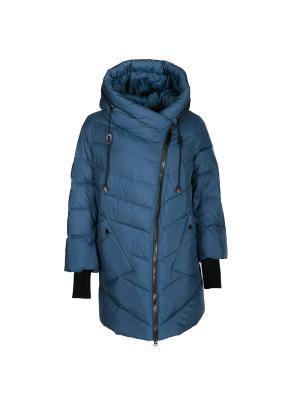 Пальто Snow Guard. Цвет: бирюзовый