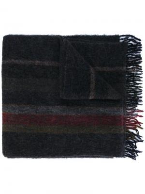Длинный полосатый шарф Études. Цвет: серый