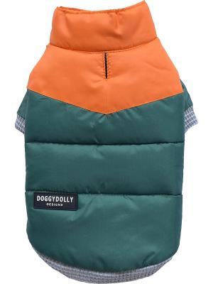 Куртка Doggy Dolly. Цвет: зеленый, оранжевый