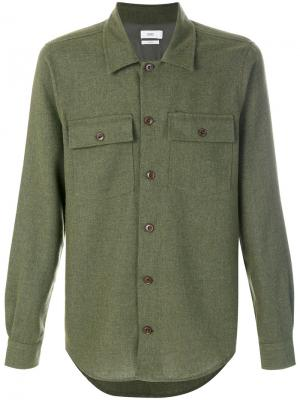 Рубашка с карманами Closed. Цвет: зелёный
