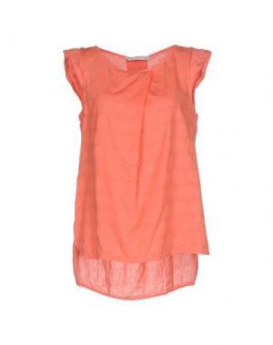 Блузка LA FABBRICA del LINO. Цвет: коралловый