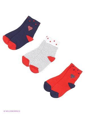 Носки, 3 пары Гамма. Цвет: синий, красный