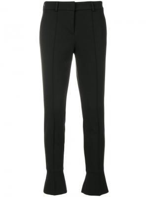 Укороченные брюки с расклешенными манжетами Cambio. Цвет: чёрный