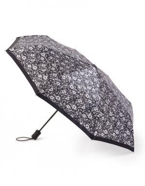 Зонт aвтомат Белые цветы Henry Backer. Цвет: черный