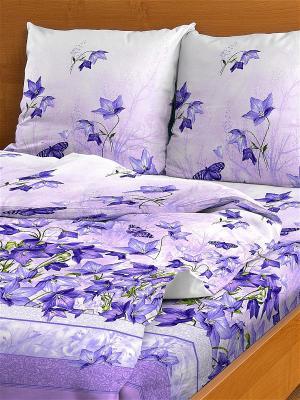 Комплект постельного белья, Семейный Letto. Цвет: фиолетовый
