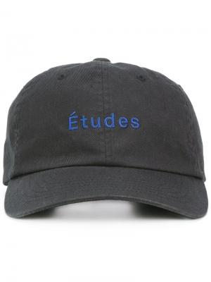 Бейсболка с логотипом Études. Цвет: чёрный