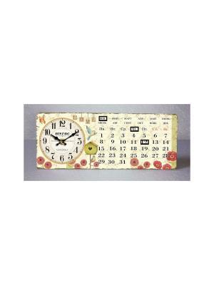 Часы настольные Красные цветочки Magic Home. Цвет: белый