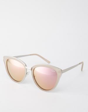 Quay Australia Солнцезащитные очки кошачий глаз с розовыми стеклами Ev. Цвет: розовый