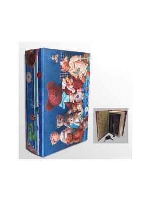 Шкатулка-сейф Медвежата арт.39514 (17*11*5см,из МДФ  с дверцей из черного металла) Magic Home. Цвет: синий