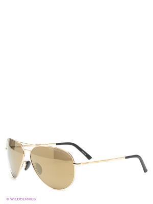 Солнцезащитные очки Porsche Design. Цвет: золотистый, коричневый