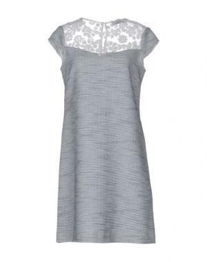 Короткое платье AXARA PARIS. Цвет: грифельно-синий