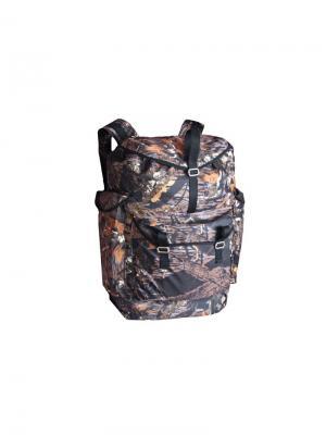 Рюкзак СЛЕДОПЫТ 60Л OXFORD 600D ЦВ ЛЕС (SLED60A) Campland. Цвет: черный, коричневый, рыжий
