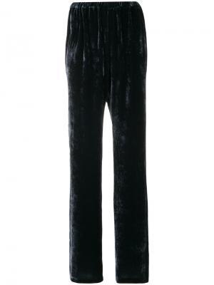 Бархатные брюки Kristensen Du Nord. Цвет: синий