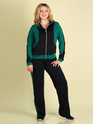 Спортивный костюм 01 SPARADA. Цвет: зеленый, темно-синий