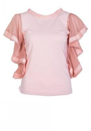 Блуза WET PAINT. Цвет: розовый