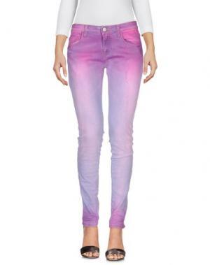 Джинсовые брюки MNML COUTURE. Цвет: розовый