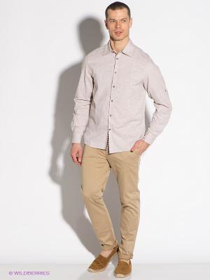 Рубашка F5. Цвет: светло-бежевый