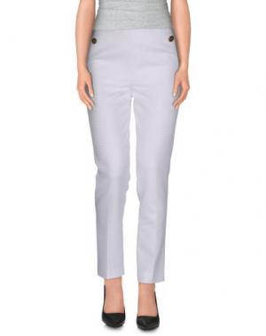 Повседневные брюки VIONNET. Цвет: белый