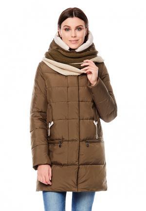 Куртка утепленная Alyaska. Цвет: коричневый