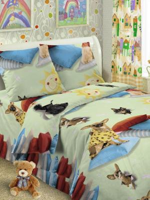 Детский комплект постельного, 1,5-спальный, наволочка 50*70, хлопок Letto. Цвет: розовый