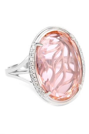 Кольцо RUSGEMS. Цвет: розовый