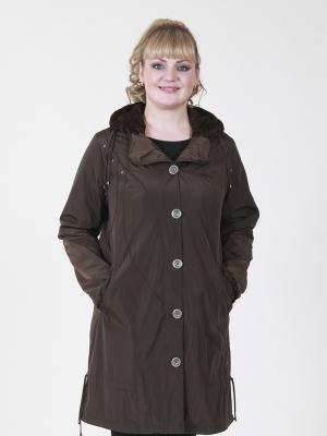Пальто Нелли VIKO. Цвет: темно-коричневый