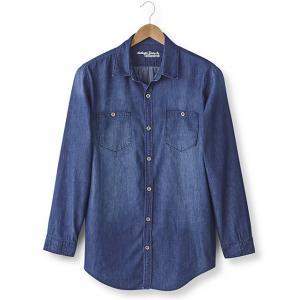 Джинсовая рубашка (+ 1,87 м) TAILLISSIME. Цвет: деним