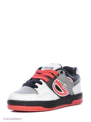 Роликовые кроссовки Heelys. Цвет: черный, серый, белый, красный
