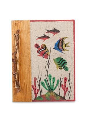 Блокнот Морское дно бол. (о.Бали) Decor & gift. Цвет: бежевый
