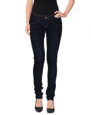 Джинсовые брюки MONKEE GENES. Цвет: синий