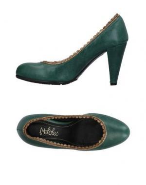 Туфли MALOLES. Цвет: зеленый