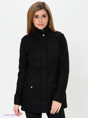 Полупальто Vero moda. Цвет: черный